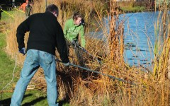 Faculty, students join forces to clean up coulee