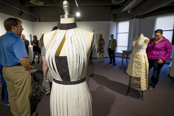 Vitoria Faccin's 'Fast Fashion Kills' was one of four BHA exhibits on display last Tuesday at Hughes Fine Arts gallery.