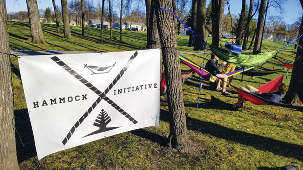 The UND Hammock Initiative held their first outing on Friday, April 21