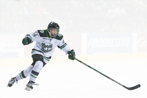 Rebekah Kolstad is one of the first UND women's hockey players to transfer to another school (MSU-Mankato) following the announcement of the program's elimination on March 29, 2017.