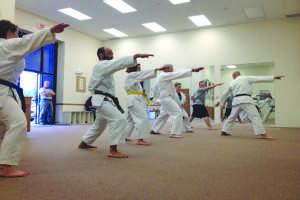 Students compete in karate