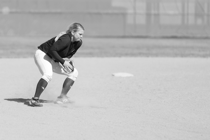 Softball team pitched losses on the road