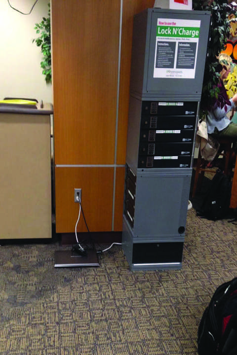 Lock N' Charge stations available in union