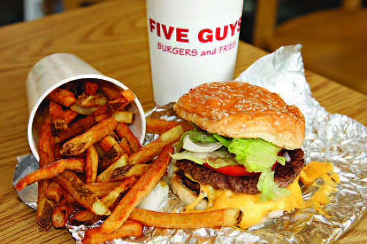 Five Guys receives five stars
