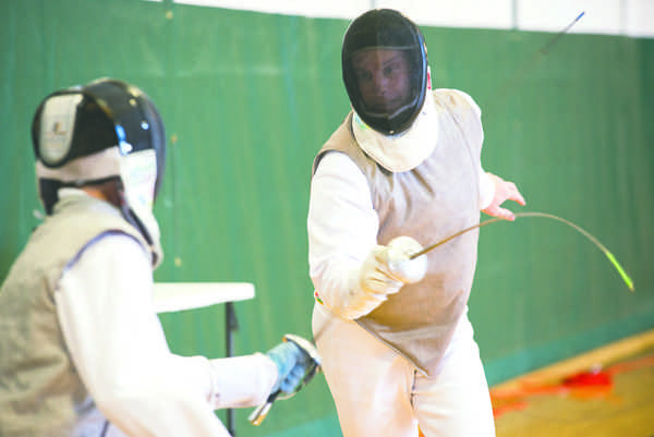 Fencing club holds open tournament