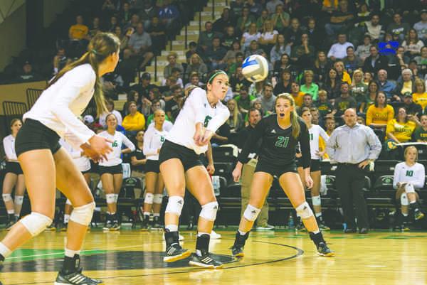 UND volleyball beats down Bison