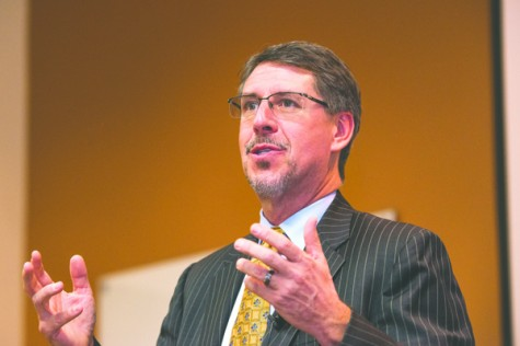 Olsen highlights budget experience, student outcomes