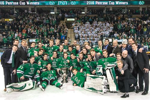 Men's hockey wins NCHC championship for second year in a row