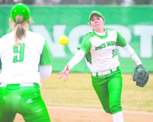 Softball splits series with South Dakota State