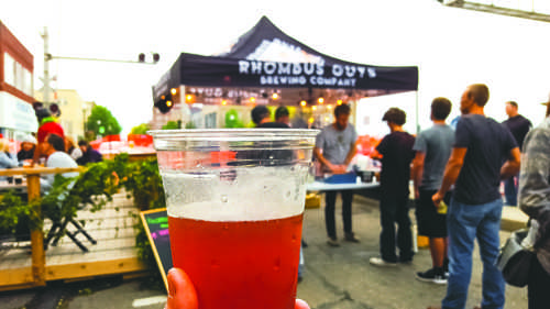 Rhombus Guys Brewery hosted an Oktoberfest celebration downtown on Saturday, September 24, 2016.