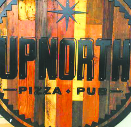 Logo for the Up North Pizza Pub. Photo by Amanda Hefner/ The Dakota Student
