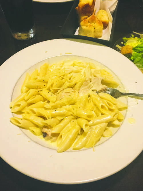 Mamma Maria's features many custom entrees such as this chicken alfredo.
