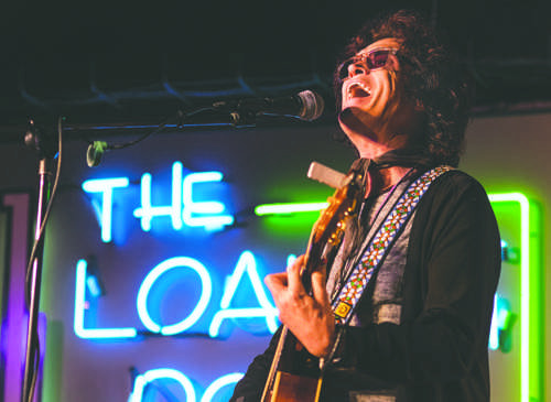 Glenn Hughes, formerly of the band Deep Purple, Black Sabbath and others, performs an original song at the Loading Dock on Saturday afternoon.