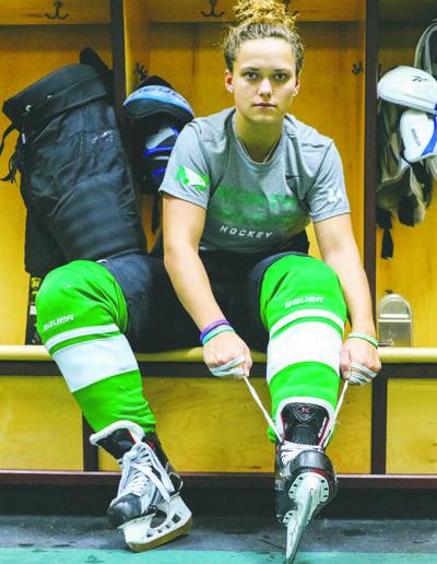 Rebekah Kolstad suits up for her sophomore season as a Fighting Hawk