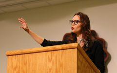 Leah Darrow, Catholic speaker and former contestant on America's Next Top Model, presented a talk entitled 'Made For More' at the Memorial Union ballroom on Tuesday, Oct. 25, 2016.