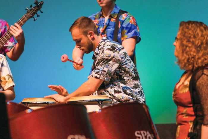 UND Steel Pan band members perform Monday evening on Nov. 7 at the Chester Fritz Auditorium.