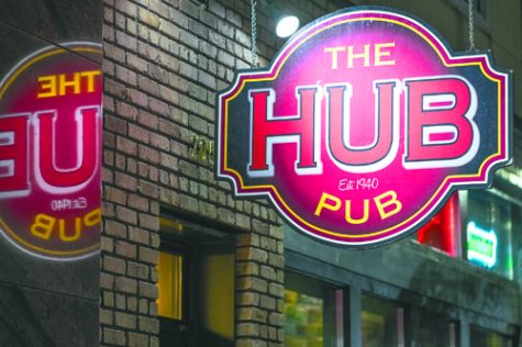 The Hub Pub, co-owned by Dennis Blackmun and Joe Schneider, recently opened in the same space that the original Hub Bar occupied in downtown Grand Forks since 1940. Nick Nelson/ Dakota Student