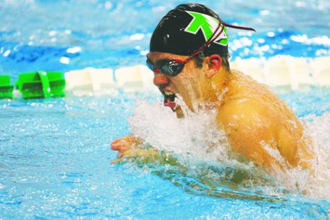 UND men's and women's swimming and diving team competed Saturday, Jan. 28. Daniel Yun/ Dakota Student