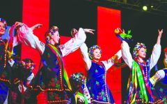Members of the Rozmai Ukranian Dance Company perform Saturday at the Alerus Center during the annual Feast of Nations event. Daniel Yun / Dakota Student