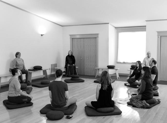 Students and faculty meditate in the Lotus Meditation Center on Saturday, January 28, 2017 as part of Interfaith week proceedings.