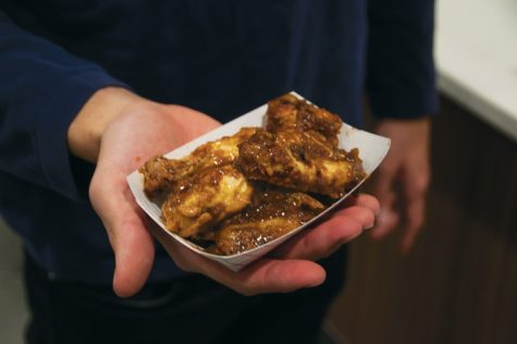 The Wilkerson and Squires dining centers hosted a wing challenge where students could eat wings that gradually increase in spiciness.