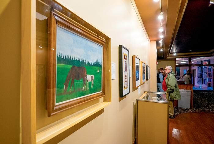 The Empire Arts Center held a cooperative gallery reception on Tuesday, Feb. 28, 2017 with local artists including current UND President Mark Kennedy as well as prior Presidents and campus faculty.