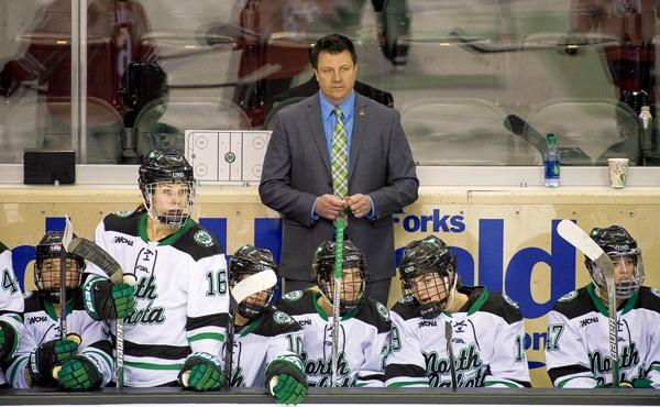 Brian Idalski is the head coach of the UND women's hockey program, which was eliminated as part of a 1.3 million budget cut for the Athletics department. File photo.