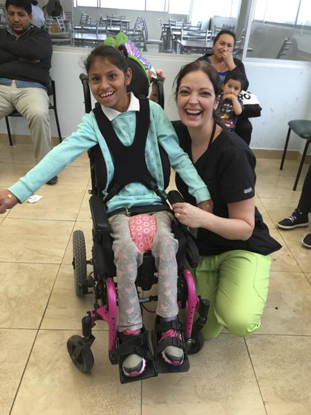 Jane Loscheider volunteers her time in Ambato, Ecuador to provide free medical services. Photo courtesy  of Jane Loscheider.