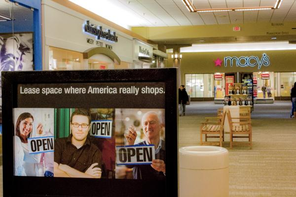 Macy's department store is one of the tenants leaving their storefront at the Columbia Mall in Grand Forks, N.D. Kyle Zimmerman/ Dakota Student