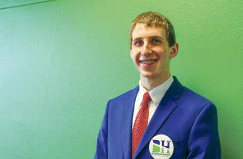 Cole Bachmeier is running for UND student president with Erik Hanson as his vice president. Daniel Yun/ Dakota Student