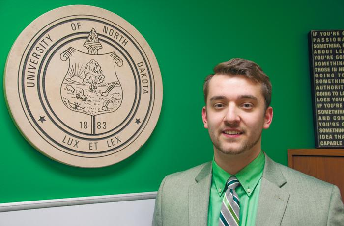 Blake+Andert+is+running+for+UND+student+president+with+Nico+Hanson+as+his+vice+president+running+mate.