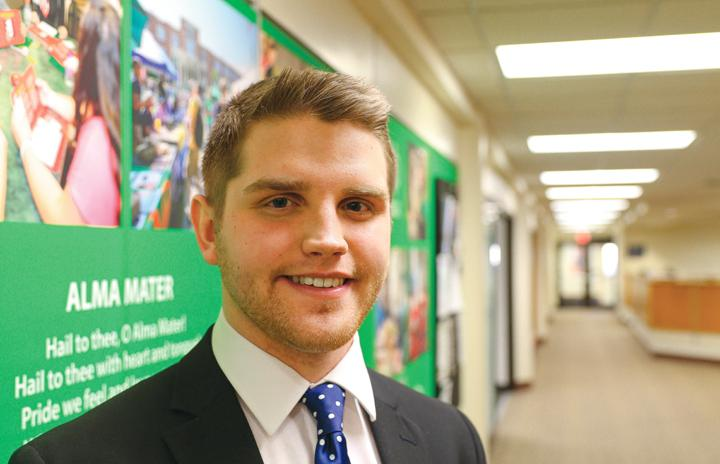 John Bjorkland is one of the candidates running for UND student body president this April.