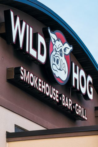 The Wild Hog Smokehouse, Bar and Grill, located at 4401 44th Ave S. in south Grand Forks, serves a wide variety of food, with ribs and wings being their specialty.