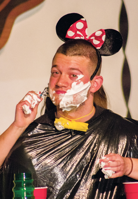 Mr.+Relay+contestant+Mickey+Mouse+%28Brock+Taylor%29+has+his+face+shaved+by+his+girlfriend+during+a+talent+portion+of+the+competition+on+Sunday%2C+April+23%2C+2017.
