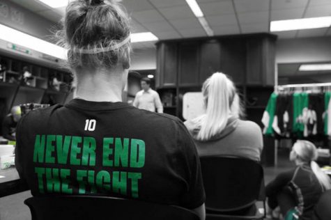 Protests have erupted in response to UND's decision to cut the women's hockey team and the men's and women's swimming and diving teams.
