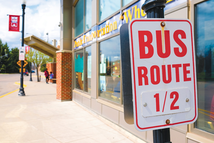 The Metro Transit Center in downtown Grand Forks, N.D. is the main hub for the Cities Area Transit (CAT) bus service, which travels throughout the community.