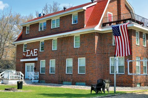 Sigma Alpha Epsilon (SAE) is one of many fraternties on the UND campus.