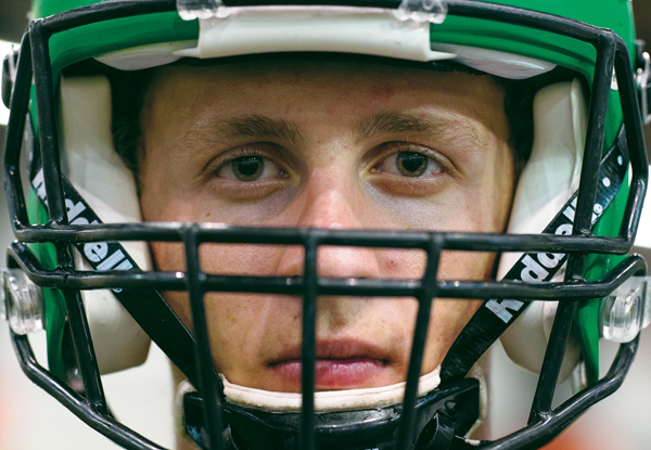 Sophomore wide receiver Noah Wanzek notched two touchdowns in the Fighting Hawks Potato Bowl shut-out of Missouri State on Saturday, September 9, 2017.
