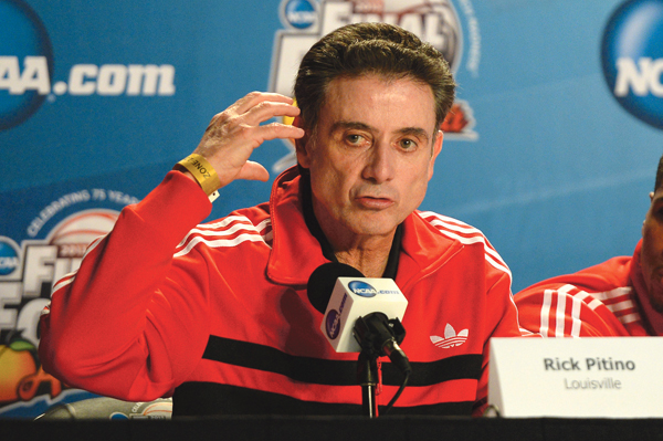Rick Pitino, head coach of the Louisville Cardinal men's basketball team, was placed on administrative leave Wednesday, September 27, 2017 by interim president Greg Postel.