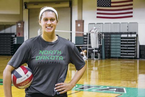 UND hitter Ashley Brueggeman was recently named MVP of the UND classic.