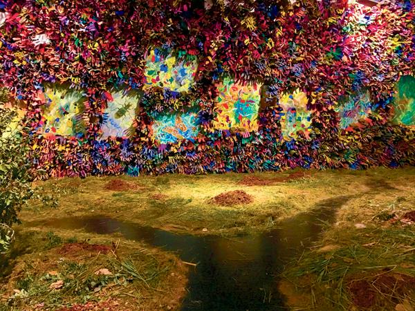 Francisco Alvarado-Juarez's multimedia installation