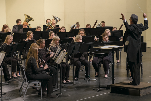 Directed by James Popejoy, the UND Wind Ensemble performs a portion of Gustav Holst's