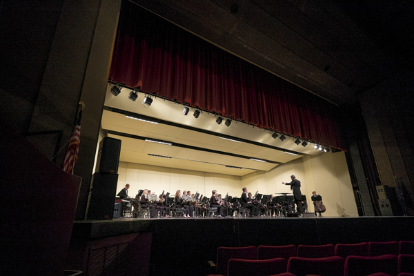 The UND Wind Ensemble performs the final piece of their Tuesday evening concert,