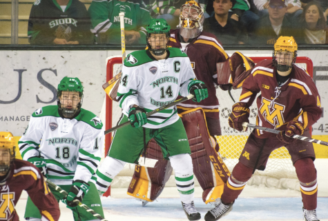 Within the National Collegiate Hockey Conference (NCHC), no players on the UND men