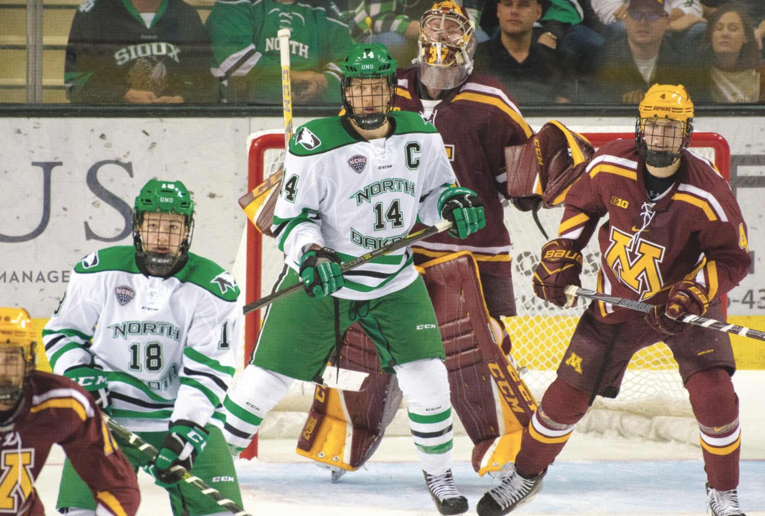Within the National Collegiate Hockey Conference (NCHC), no players on the UND men's hockey team were submitted to be Hobey Maker nominees this year