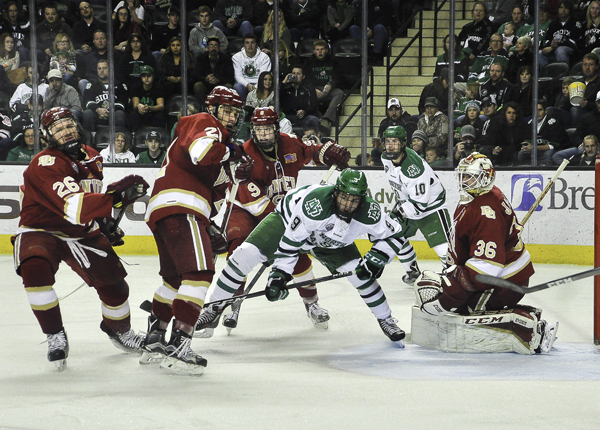 UND faced the Denver Pioneers this past weekend in a home series that resulted in two overtime ties.