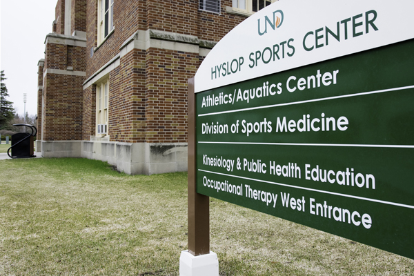 The Hyslop Sports Center is one of the prospective campus buildings to be demolished in the future, according to a 30-year campus plan released by UND on Tuesday, January 16, 2018.
