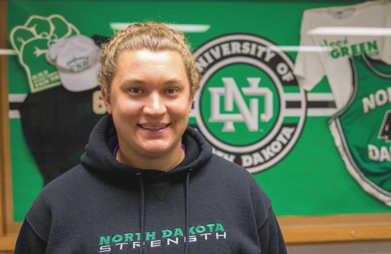 Molli Detloff is a thrower on the UND Track & Field team.