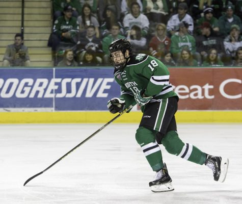Former UND forard Chris Wilkie transferred to Colorado College at the beginning of the season and will have to sit out a year due to NCAA regulations.
