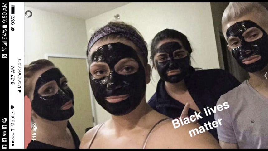 In+a+September+2016+photo+that+circulated+on+social+media+platforms%2C+UND+students+posed+in+black+charcoal+masks+with+the+caption+%22Black+lives+matter.%22
